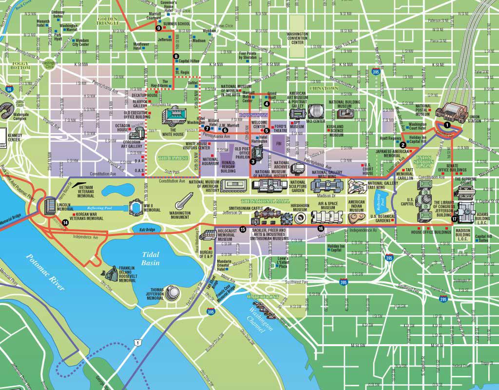 Washington Dc Trolley Tours Map